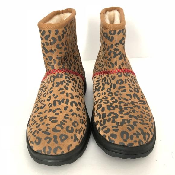 87073c4f155e UGG Shoes | I Love S Leopard Print Fur Ankle Boots 1600 | Poshmark